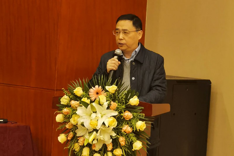 安徽新华印刷股份有限公司总经理夏屹登台致欢迎词